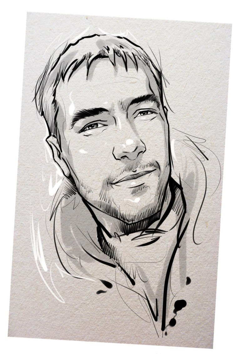 Портрет карандашом любимому мужу в Воронеже…