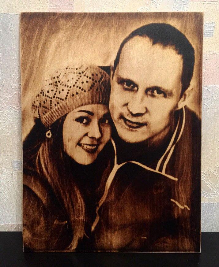 выжигание портретов по дереву на заказ в Воронеже