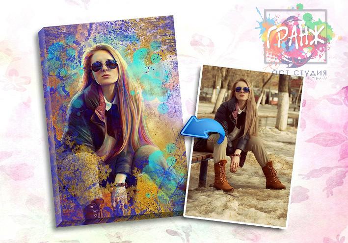 Портрет по фото на заказ в честь 8 марта в Воронеже