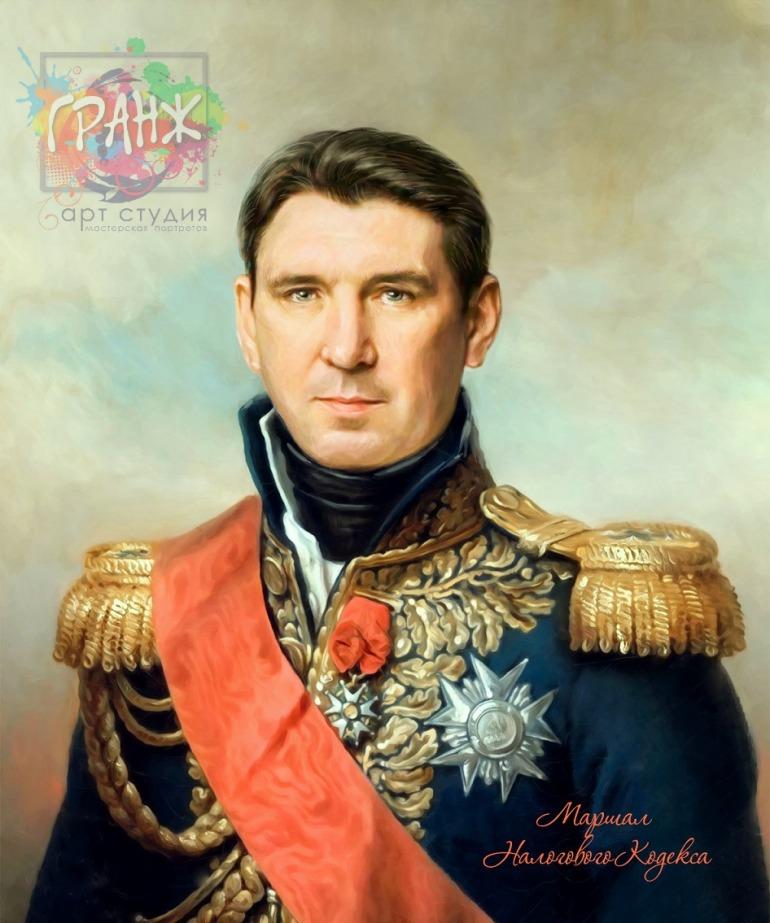 Портрет по фото на холсте в подарок мужчине на 23 февраля Воронеж
