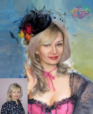 Заказать арт портрет по фото на холсте в Воронеже