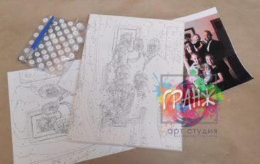 Картина по номерам по фото, портреты на холсте и дереве в Воронеже